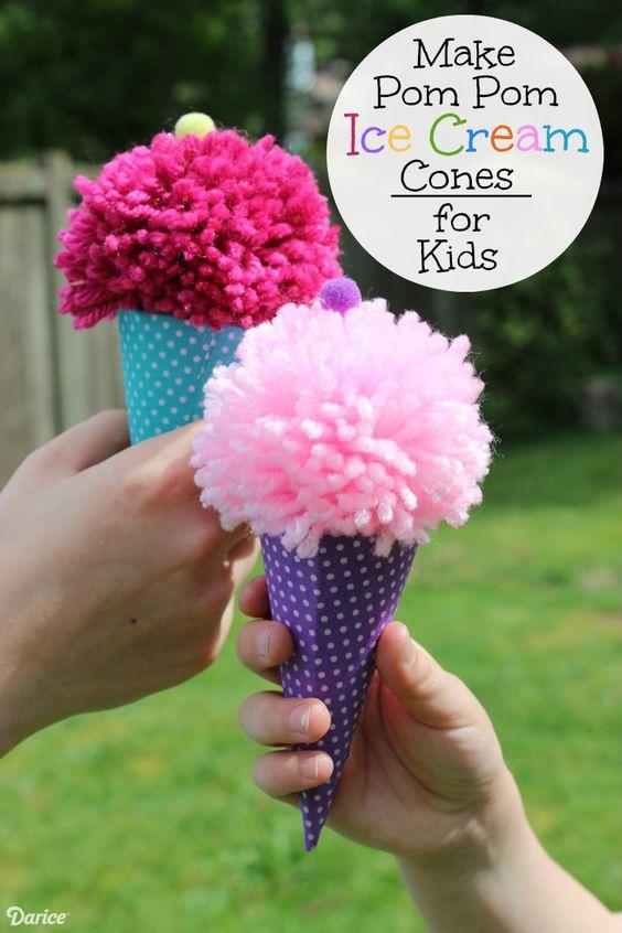 pom pom ice cream cone