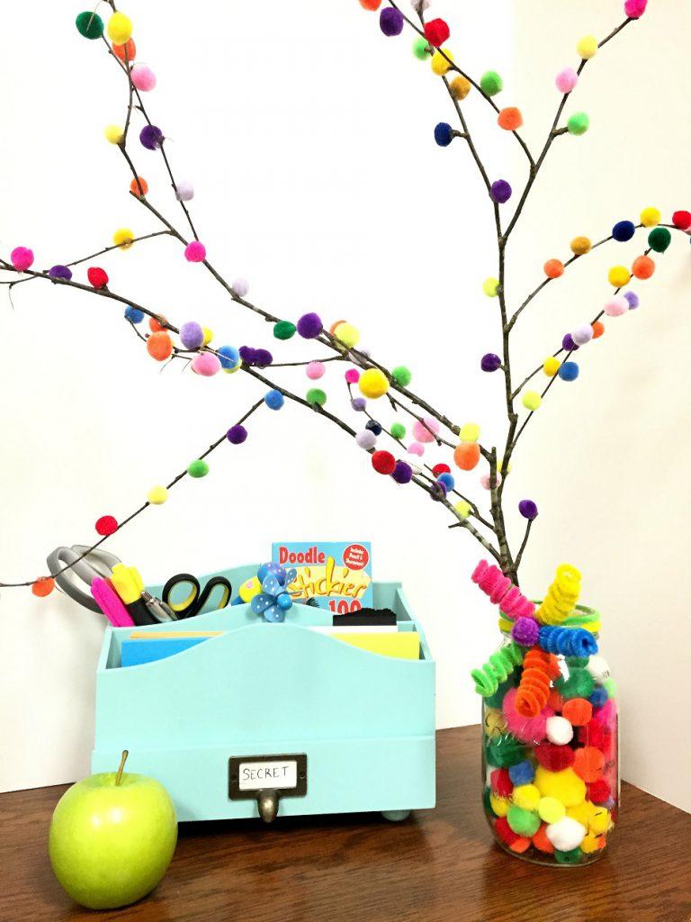 pom pom tree craft