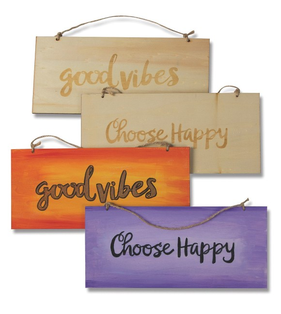 positive quote wood craft
