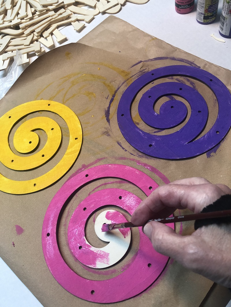power of words spiral paint