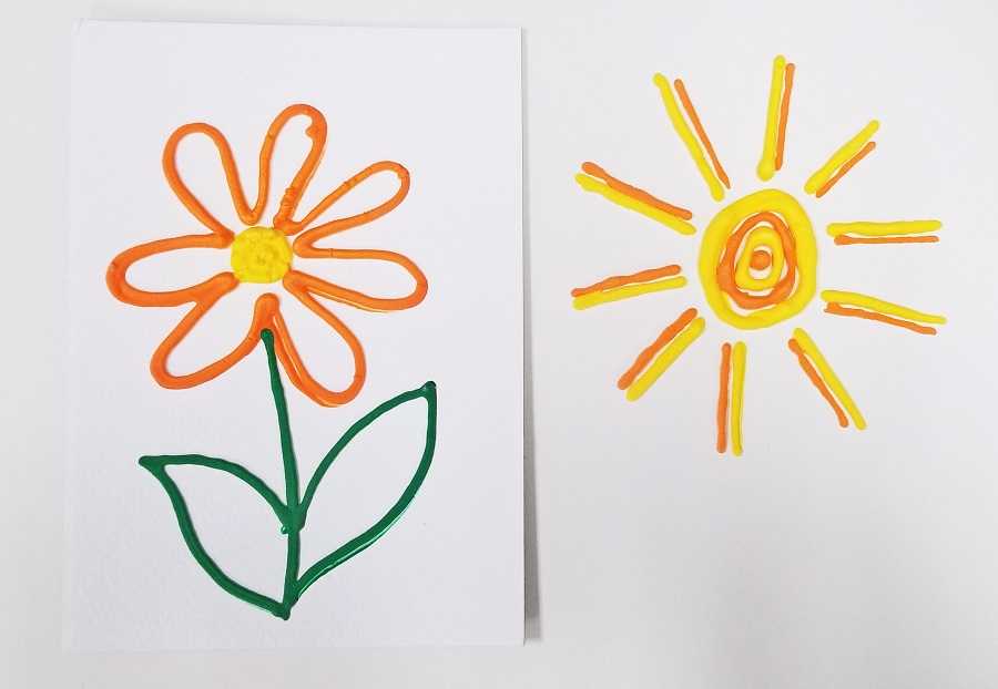 puffy paint canvas craft