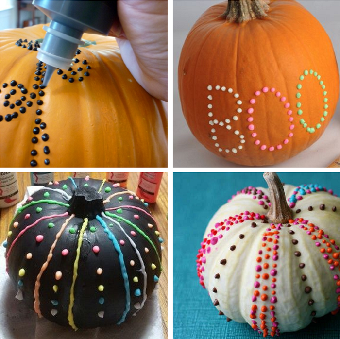 puffy paint pumpkins