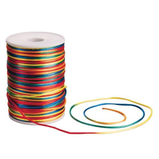 rainbow ombre rattaill cord