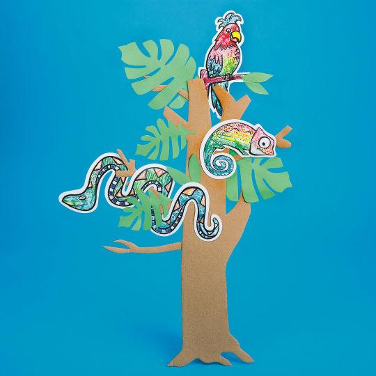 Rainforest craft idea