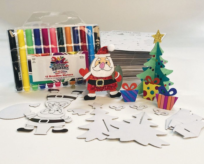 santa christmas craft kit