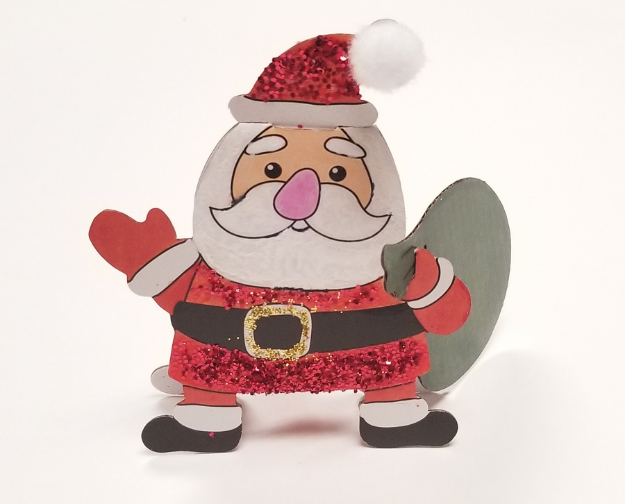 santa christmas craft