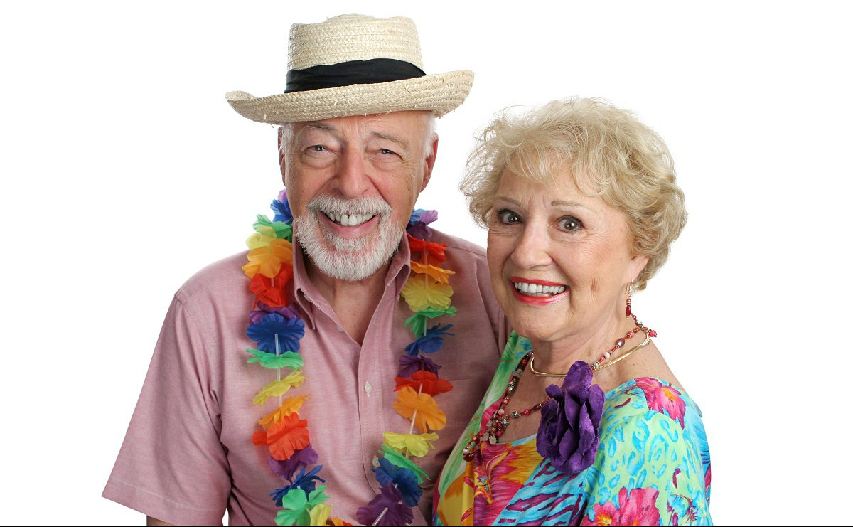Hawaii Luau Senior residents