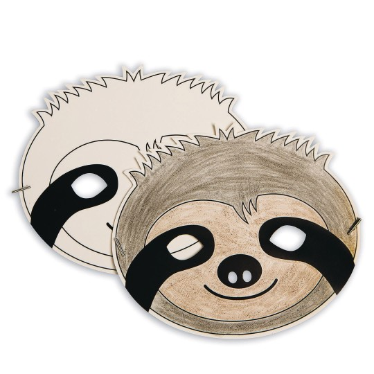 sloth half mask zoo