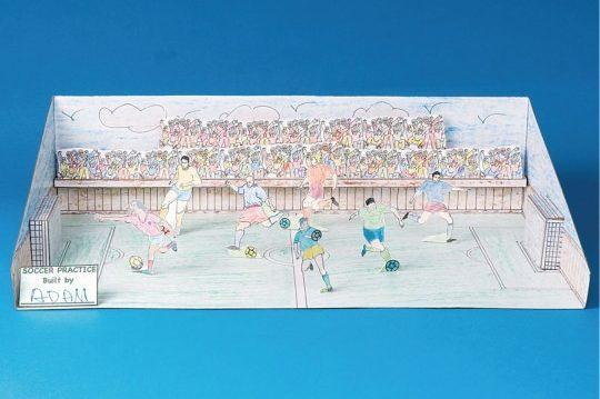 soccer field diorama