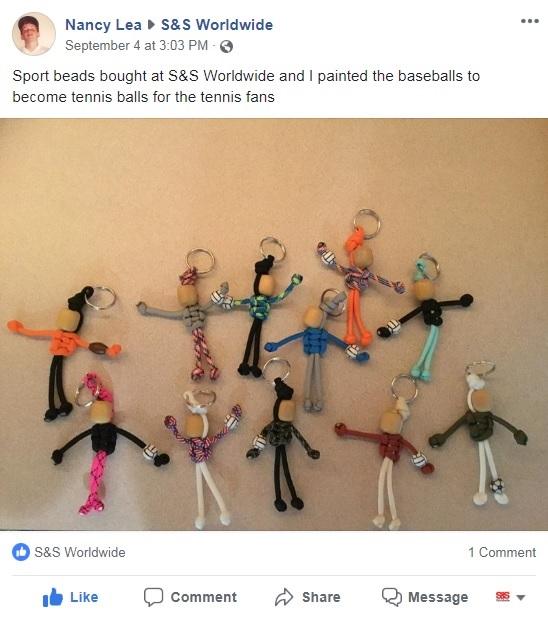 DIY sports keychain beads