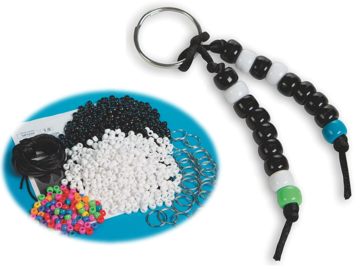 STEAM Activity for Kids - Create a Binary Code Keychain - S&S Blog