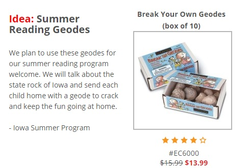 summer reading geodes