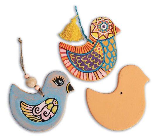 terra cotta birds