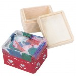 trinket box wood and tissue paper