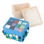 trinket box wood and tiles