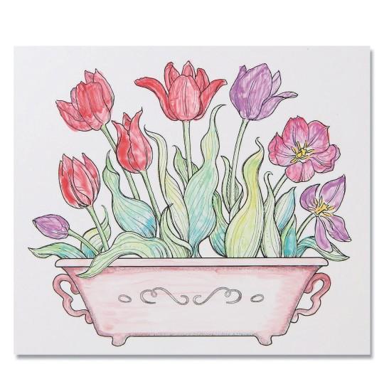 tulip painting craft