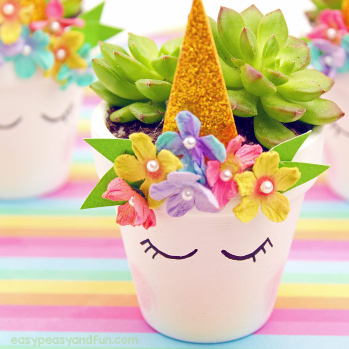 unicorn flower pot