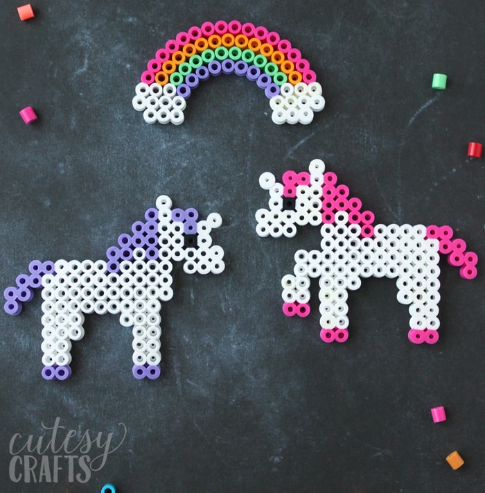 unicorn perler beads