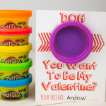 Non Candy Valentine's Day Ideas with Play-Doh