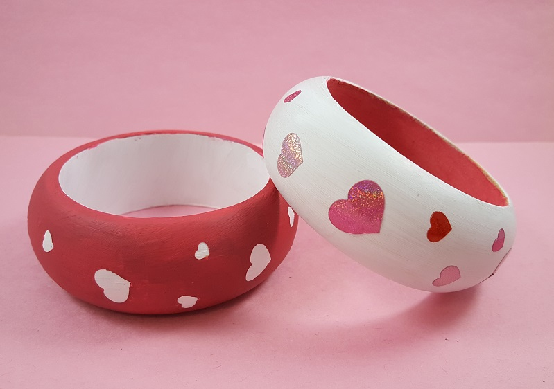 valentines day heart crafts bracelet