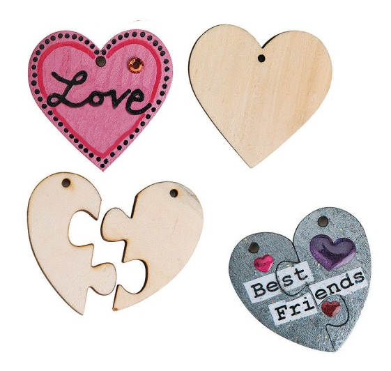 valentines day heart crafts pendants