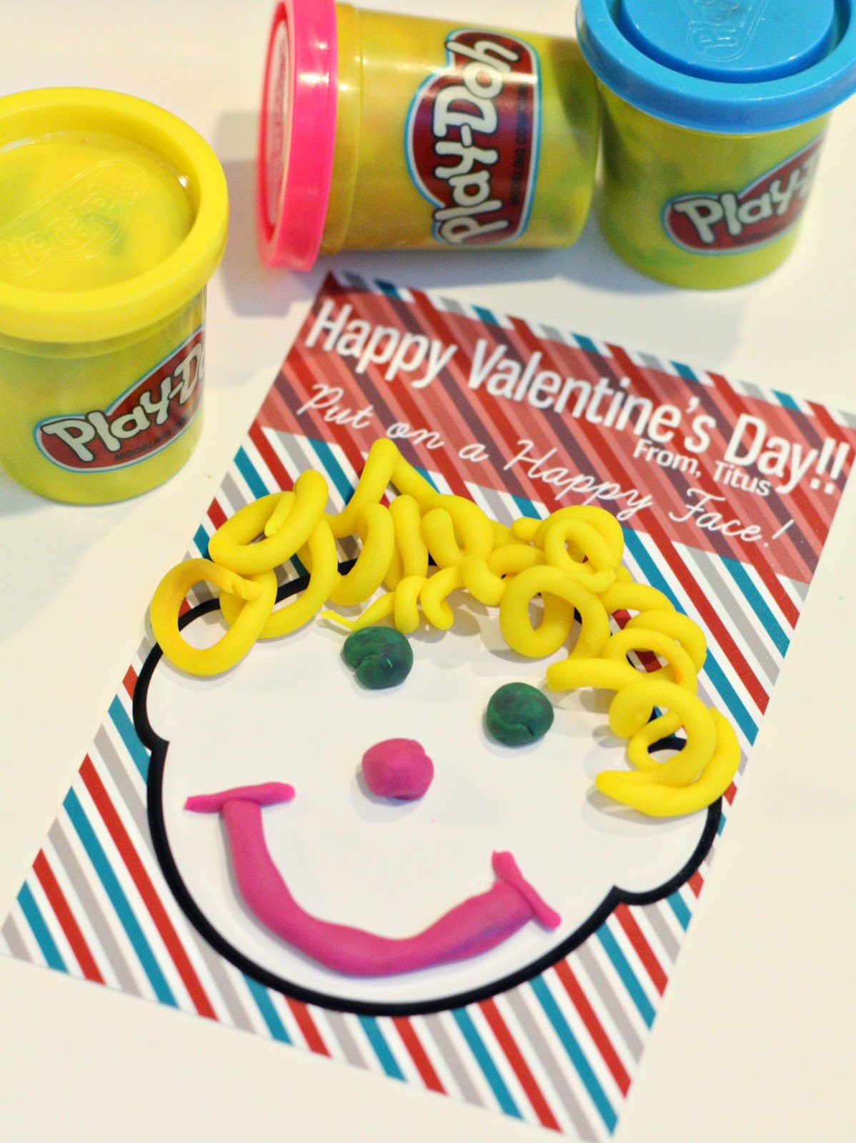 graphic about Play Doh Valentine Printable known as Non Sweet Valentines Working day Guidelines with Participate in-Doh - SS Website
