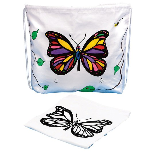 velvet art bag butterfly spring