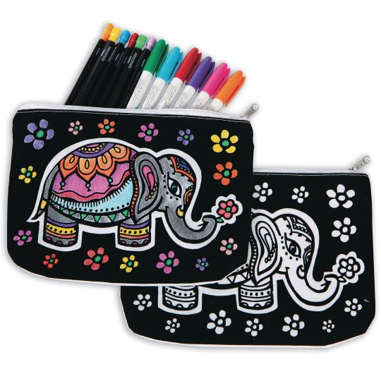velvet art elephant zoo craft