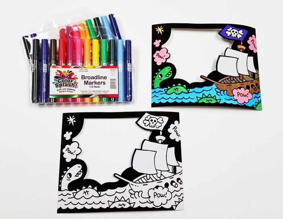 velvet art pirate craft kit