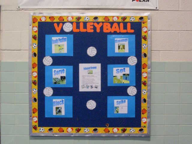 volleyball poster board