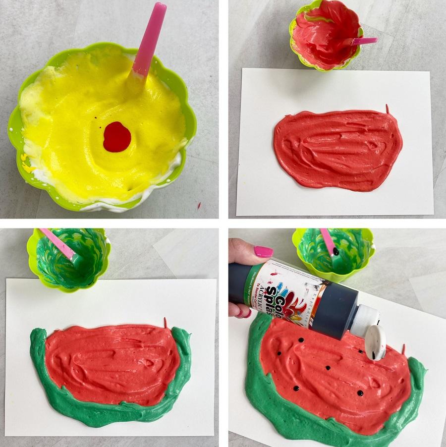 watermelon puffy paint craft