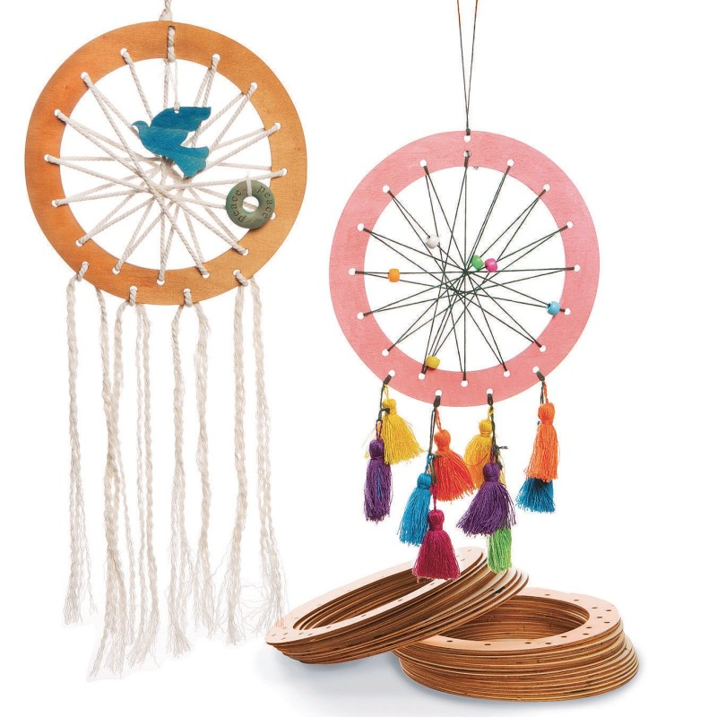 weaving craft wood dreamcatcher
