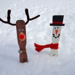 DIY Snowman and Reindeer Measuring Sticks – Winter Craft for Kids
