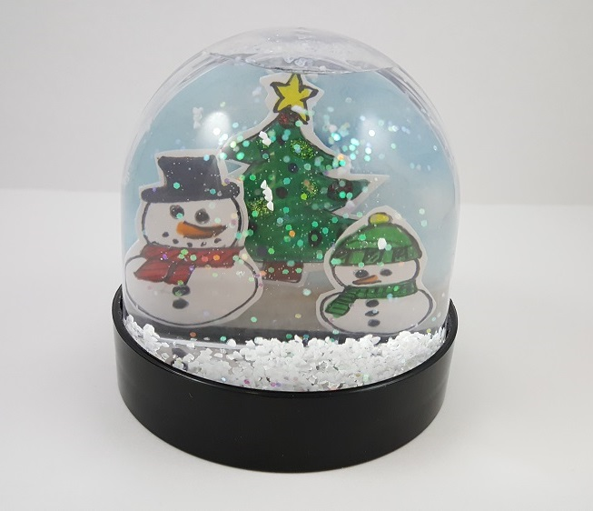 winter crafts snowglobe