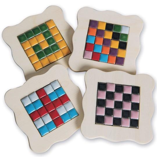 wood tile coasters