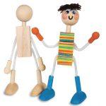 Wood Doll Craft For Kids – Teach Movement & Flexibility