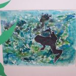 Student Writing Activity Using Paint & Framed Silhouettes